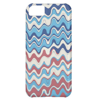Retro Sea Wavy Stripes Pattern Cover For iPhone 5C