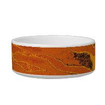 Retro seamless animal fur texture 5 bowl