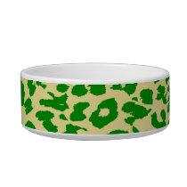 Retro seamless animal print texture of leopard bowl