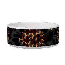 Retro seamless animal skin texture bowl