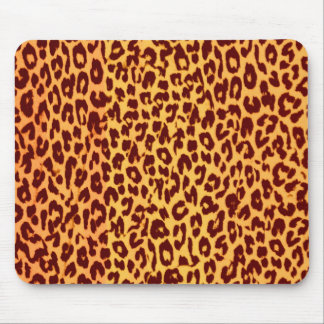 Retro seamless animal skin texture of leopard mouse pad