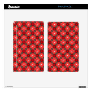 Retro Seamless Geometric Floral Pattern Kindle Fire Decal