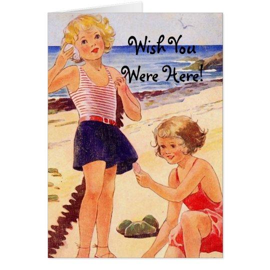 Retro Seashore Note Cards