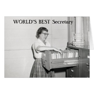 Retro Secretary Card