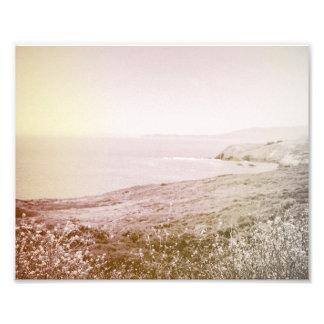 Retro Sepia California Coast | Photo Print