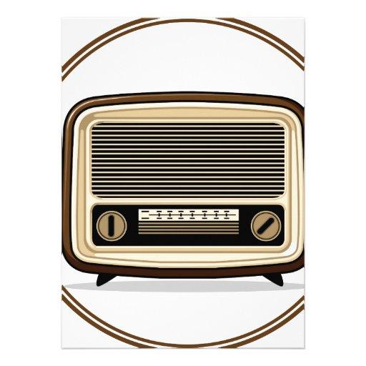 Retro Set - Old Radio Custom Invite