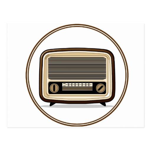 Retro Set - Old Radio Post Card