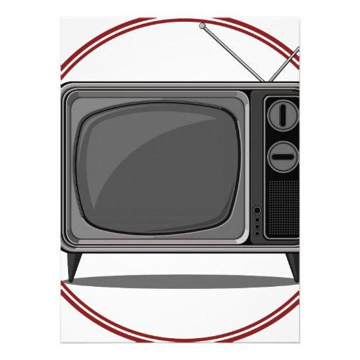 Retro Set - Old Television Custom Invite