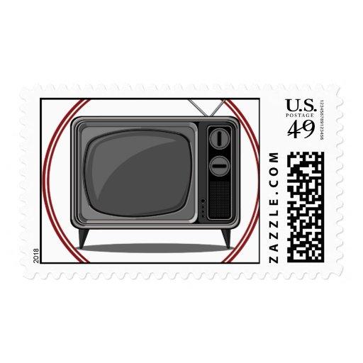 Retro Set - Old Television Stamp