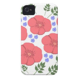 Retro Seventies floral design iPhone 4 Covers