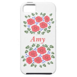 Retro Seventies floral design iPhone 5 Cases