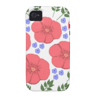 Retro Seventies floral design Vibe iPhone 4 Covers