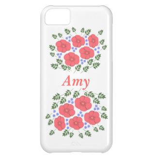 Retro Seventies floral design iPhone 5C Cases