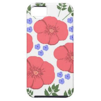 Retro Seventies floral design iPhone 5 Case