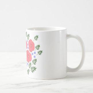 Retro Seventies floral design Coffee Mug