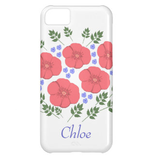 Retro Seventies floral design iPhone cases Cover For iPhone 5C