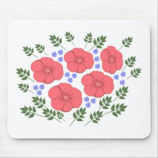 Retro Seventies floral design Mouse Pad