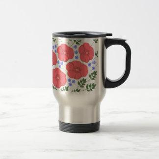 Retro Seventies floral design Coffee Mugs
