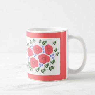 Retro Seventies floral design Mugs