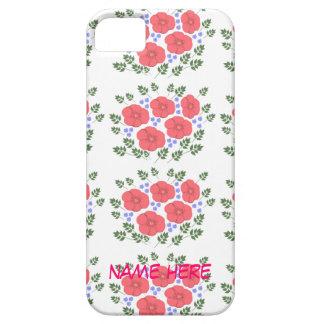 Retro Seventies floral design, name, iPhone cases iPhone 5 Cover