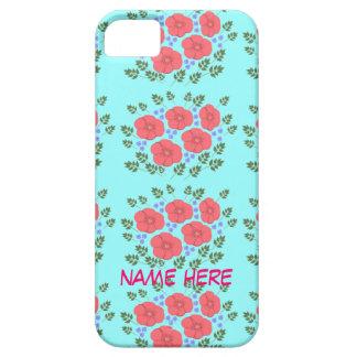 Retro Seventies floral design, name, iPhone cases iPhone 5 Cases