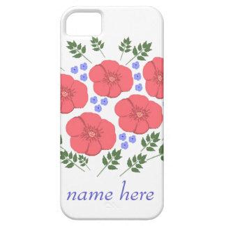 Retro Seventies floral design, name, iPhone cases