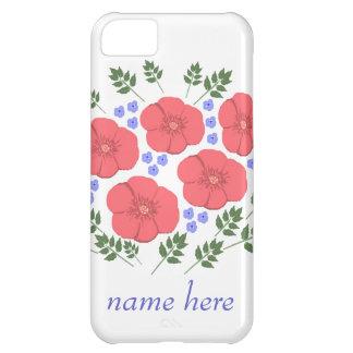 Retro Seventies floral design, name, iPhone cases iPhone 5C Covers