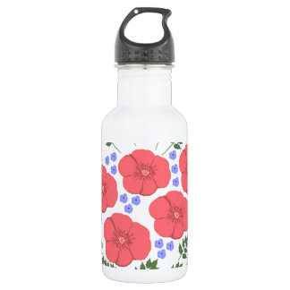 Retro Seventies floral design Water Bottle