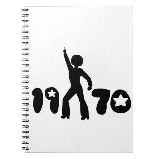Retro Seventies Man Notebook