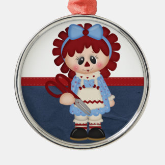 Retro Sewing Girly Rag Doll Christmas Tree Ornaments