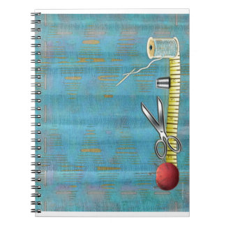 Retro Sewing Spiral Notebooks