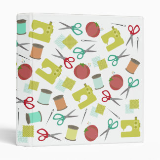 Retro Sewing Themed Binder