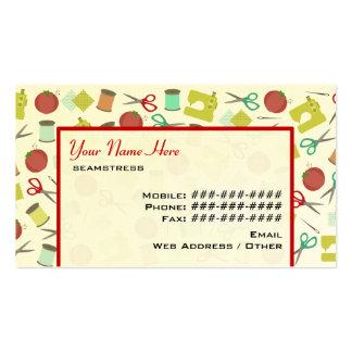Retro Sewing Themed Business Card