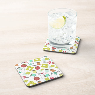 Retro Sewing Themed Cork Coasters