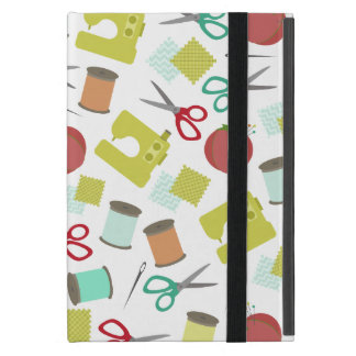Retro Sewing Themed iPad Mini Case With Kickstand