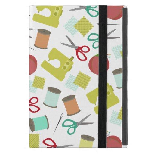 Retro Sewing Themed iPad Mini Case With Kickstand