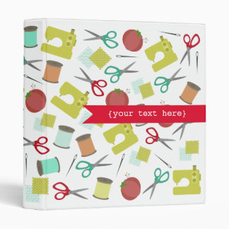 Retro Sewing Themed Personalized Binder