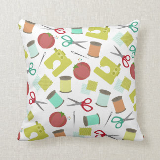 Retro Sewing Themed Pillow