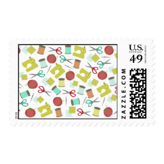 Retro Sewing Themed Postage