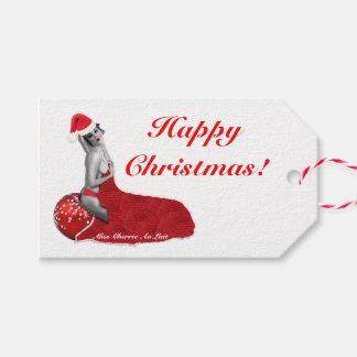 Retro Sexy Pinup Girl Art Christmas Gift Tags H!