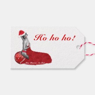 Retro Sexy Pinup Girl Art Christmas Gift Tags Ho!