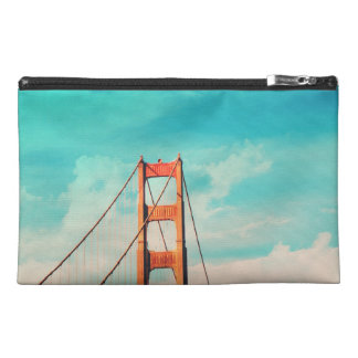 Retro SF Golden Gate Bridge Zippered Pouch Travel Accessories Bags