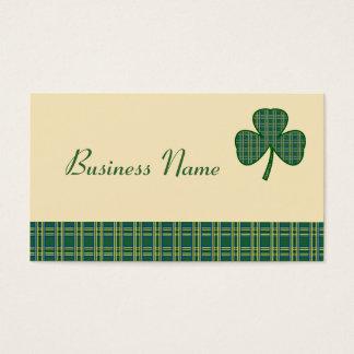 Retro Shamrock Business Card