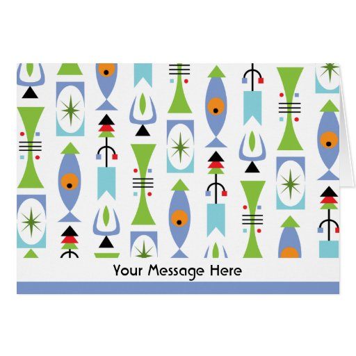 Retro Shape personalized notes or thank you notes
