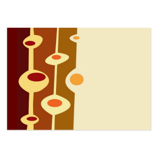 retro shapes brown yellow orange large business cards (Pack of 100)