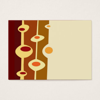 retro shapes brown yellow orange business card