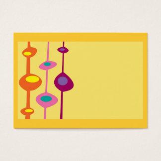 retro shapes citrus candy colors business card