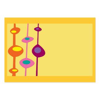 retro shapes citrus candy colors large business card