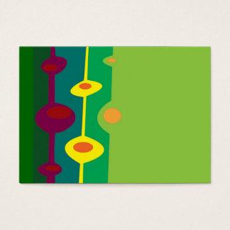 retro shapes citrus colors business card
