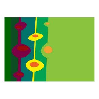 retro shapes citrus colors large business card
